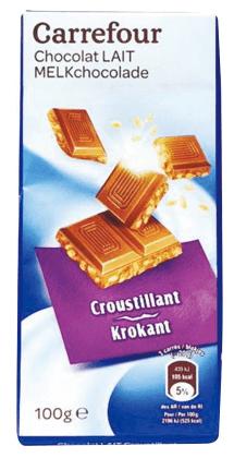 家樂福 米果牛奶巧克力