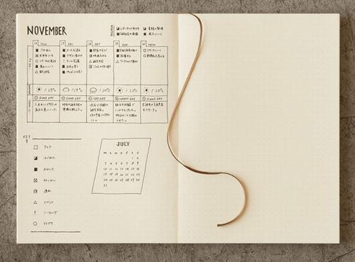 MD Notebook 筆記本A5-5mm點點